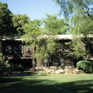 Rear view, Timbroley Hollow Lodge, Greensboro, Guilford County, North Carolina