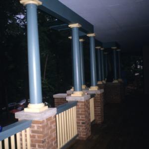 Porch, Holden Richards House, Hillsborough, Orange County, North Carolina