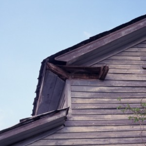 Corner roof detail, Clayton Farm, Forsyth County, North Carolina