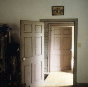 Interior view with door, Battle-Purnell House, Wake County, North Carolina