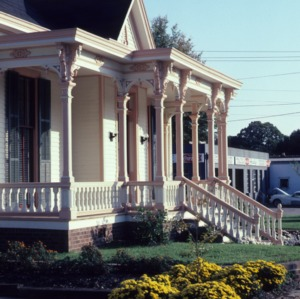 Porch, Bretsch House, Raleigh, Wake County, North Carolina