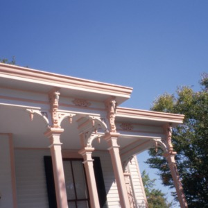 Porch detail, Bretsch House, Raleigh, Wake County, North Carolina