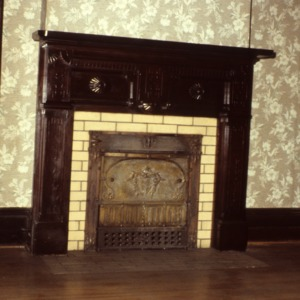 Mantel and fireplace, Bretsch House, Raleigh, Wake County, North Carolina