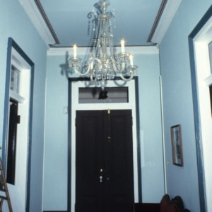 Interior hall, Bretsch House, Raleigh, Wake County, North Carolina