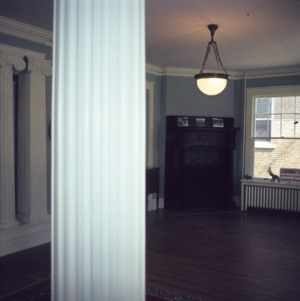 Interior view with fireplace, Weathers-Stephenson House, Raleigh, Wake County, North Carolina