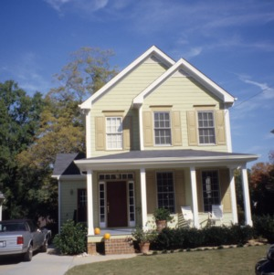 Front view, House, Clark Avenue, Raleigh, Wake County, North Carolina
