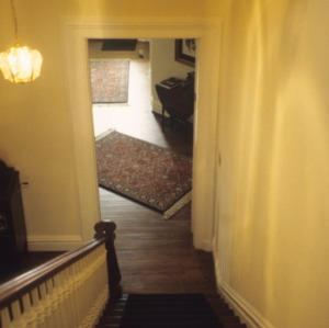 Interior view with stairs, W. Thomas House, Raleigh, Wake County, North Carolina