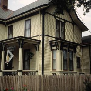 Side view, W. Thomas House, Raleigh, Wake County, North Carolina