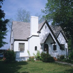 Front view, Cottage, North Blount Street Area, Raleigh, Wake County, North Carolina