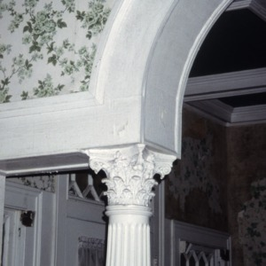 Column detail, Lucius P. Best House, Warsaw, Duplin County, North Carolina