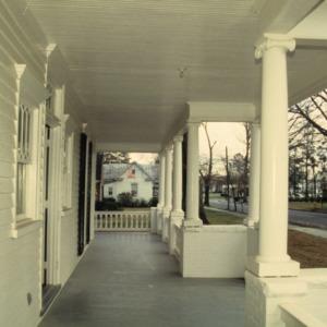 Porch, Lucius P. Best House, Warsaw, Duplin County, North Carolina