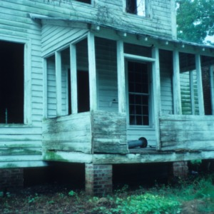 Porch, Hicks House, Duplin County, North Carolina