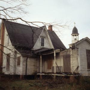Rear view, Parish House, Columbia, Tyrrell County, North Carolina