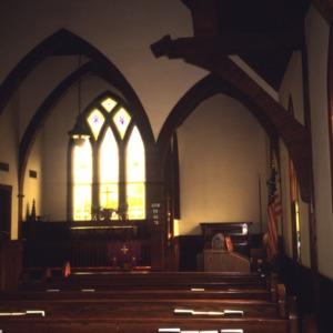 Interior view, St. Andrew's Episcopal Church, Columbia, Tyrrell County, North Carolina