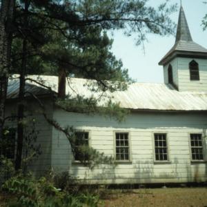 Side view, Addor Church, Addor, Moore County, North Carolina