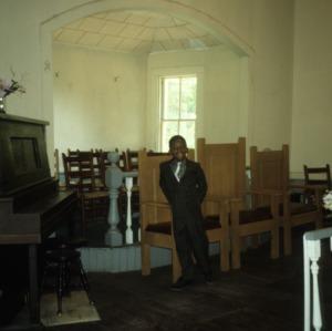 Interior view, Addor Church, Addor, Moore County, North Carolina