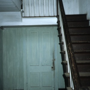 Interior view with stairs, T. B. Creel House, Aberdeen, Moore County, North Carolina