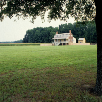 View from distance, King-Bazemore House, Bertie County, North Carolina