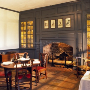 Interior toward fireplace, King-Bazemore House, Bertie County, North Carolina
