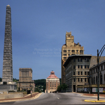 View from distance, City Building, Asheville, North Carolina