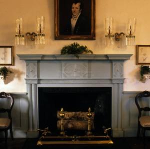 Fireplace, Bellevue, Burke County, North Carolina