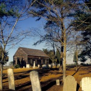 Exterior view, Brown Marsh Presbyterian Church, Bladen County, North Carolina