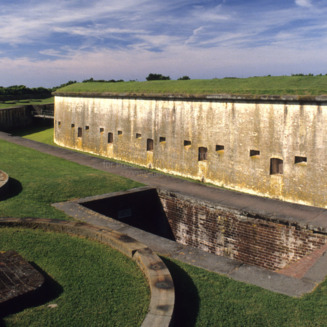 Exterior, Fort Macon, Carteret County, North Carolina