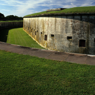 Moat, Fort Macon, Carteret County, North Carolina