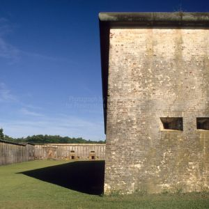 Fort wall, Fort Macon, Carteret County, North Carolina