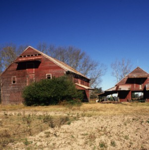 View, Elliott Barn and Stable, Chowan County, North Carolina