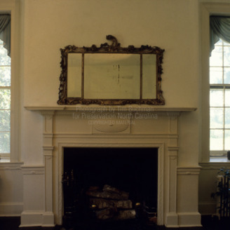 Interior with fireplace, Mulberry Hill, Chowan County, North Carolina