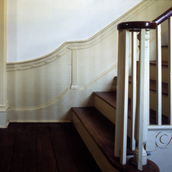 Stairway wainscoting, Mulberry Hill, Chowan County, North Carolina