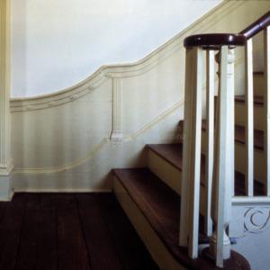 Stairway wainscoting, Mulberry Hill, Chowan County, North Carolina