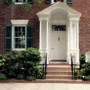 Portico detail, Eli Smallwood House, New Bern, North Carolina