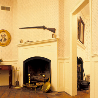 Interior with fireplace, Ellerslie, Cumberland County, North Carolina