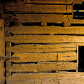 Barn interior, Sink Farm, Davidson County, North Carolina