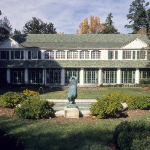 View from garden, Reynolda, Winston-Salem, North Carolina