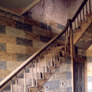Stairway detail, Archibald Taylor House, Franklin County, North Carolina