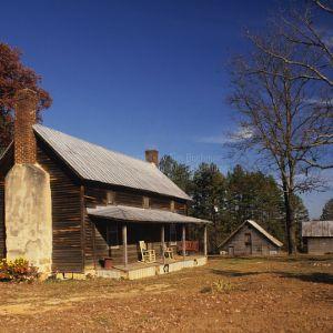 View, Farmhouse, Puckett Farm, Granville County, North Carolina