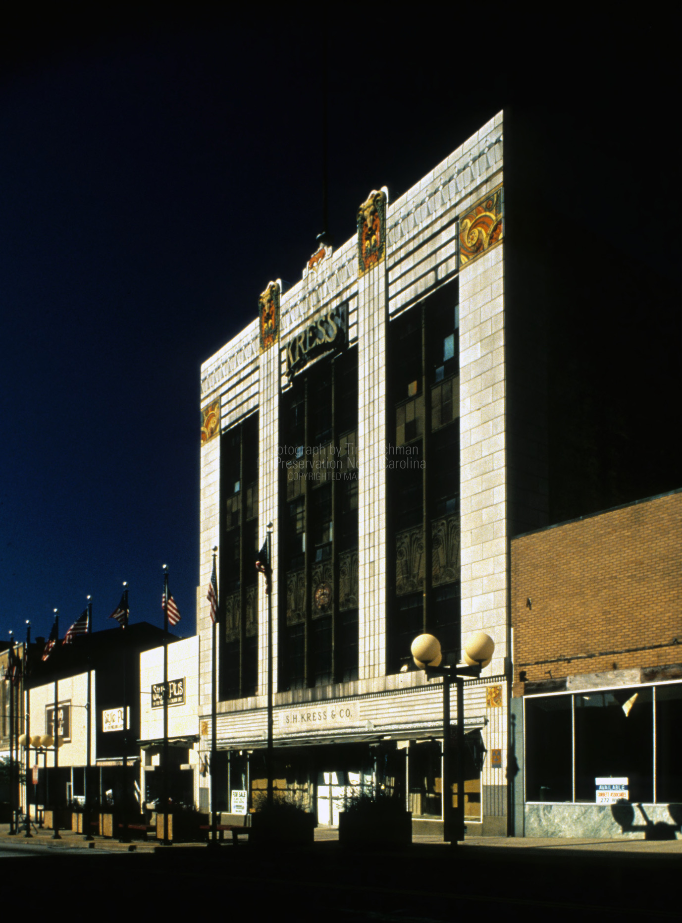 View, S. H. Kress and Company Building, Greensboro, North Carolina