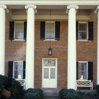 Portico and front entrance, Ingleside, Lincoln County, North Carolina