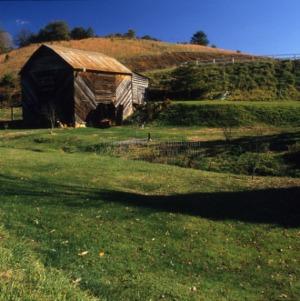 View, Barn, Jefferson J. White, Jr. House, Madison County, North Carolina