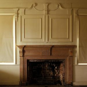 Interior fireplace, Holly Bend, Mecklenburg County, North Carolina