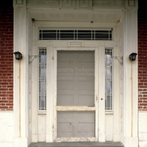 Door detail, Land's End, Perquimans County, North Carolina