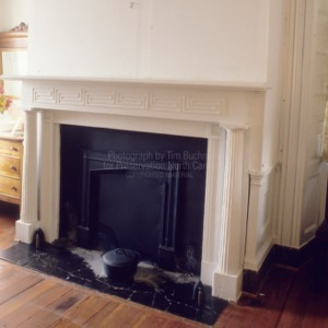 Interior fireplace, Land's End, Perquimans County, North Carolina