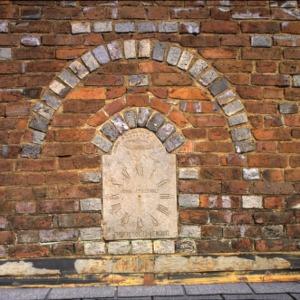 Front wall plaque, John Stirewalt House, Rowan County, North Carolina