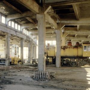 Roundhouse interior, Spencer Shops, Spencer, North Carolina