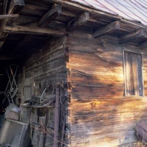 Outbuilding notching, Daniel Stone House, Vance County, North Carolina