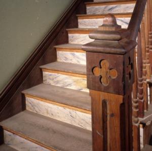 Newel and stairway, Watson House, Warren County, North Carolina
