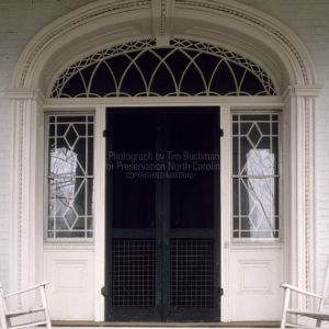 Front door, Eaton Place, Warrenton, North Carolina